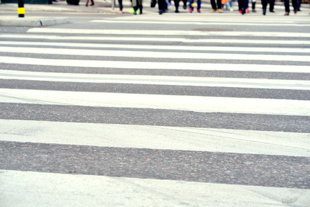 Pedestrians on zebra crossing, out of focus Stock Photo - 39294531