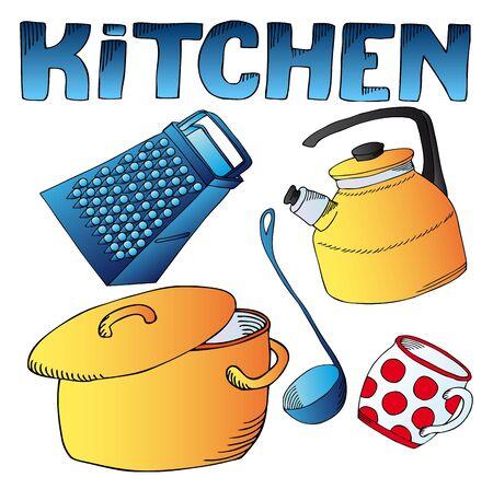 mestolo: Cucina piatti di raccolta Vettoriali
