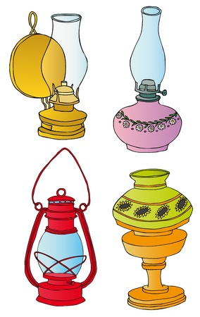 Kerosene lamps collection