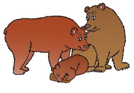 Family of bears - vector illustration