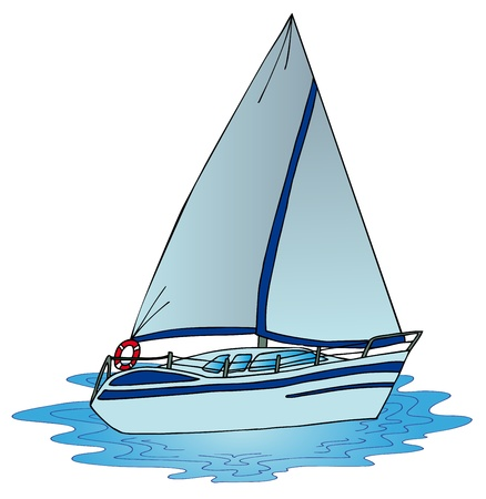 Sail on water - vector illustration