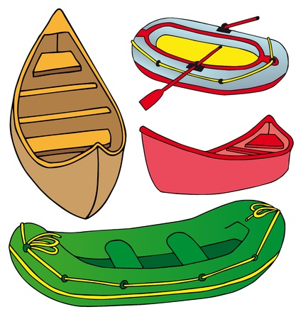 Boats and ships collection Vector