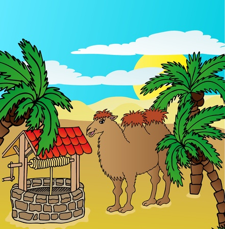 wasteland: Camel and well