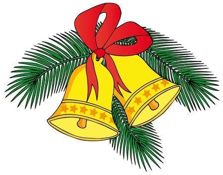 Deux cloches de Noël Banque d'images - 15764865