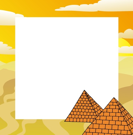 Frame with pyramids - vector illustration.