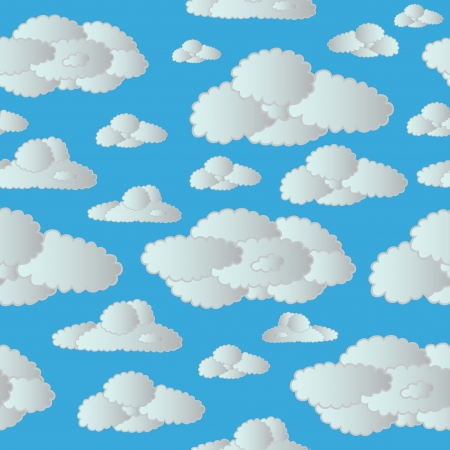 Seamless clouds sky - vector illustration. Stock Vector - 16439895