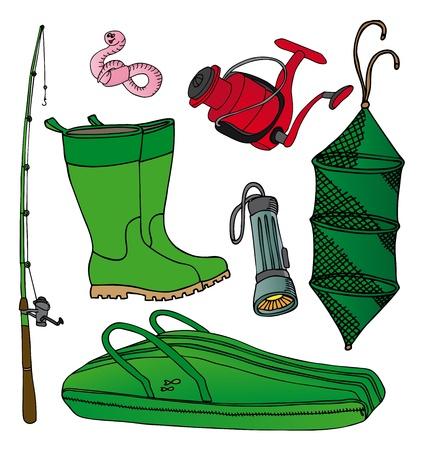 lombriz de tierra: Pesca icono de la colección Vectores