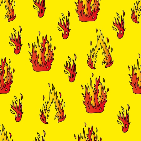 Seamless background with fire Stock Vector - 16667966