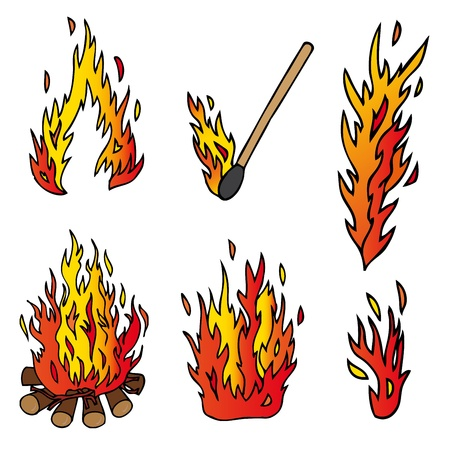 Vaus fire collection  Stock Vector - 16667944