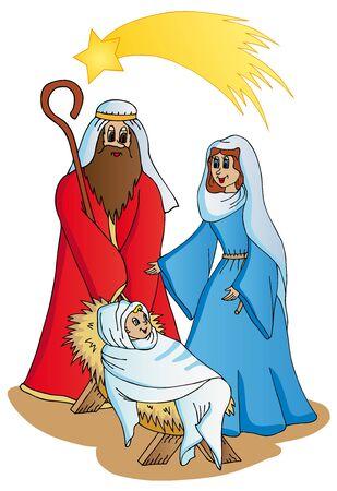 Bethlehem on white background - vector illustration