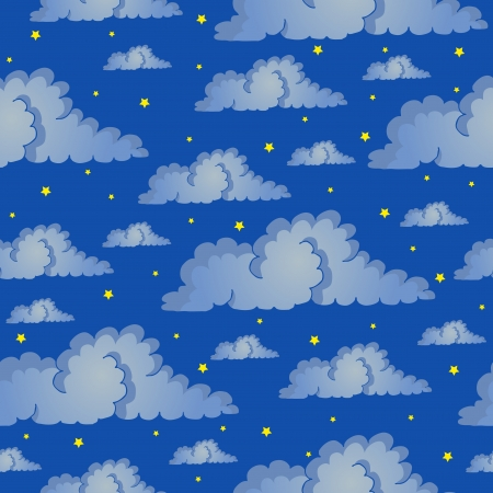Seamless background night sky - vector illustration