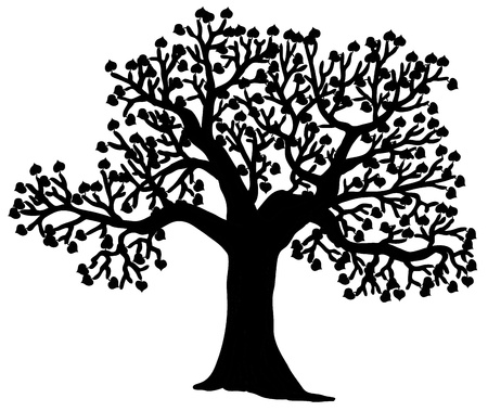 treetop: Shaped silhouette of tree