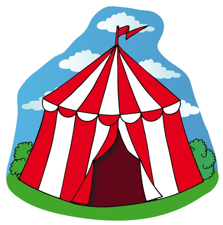 Little circus tent - vector illustration.