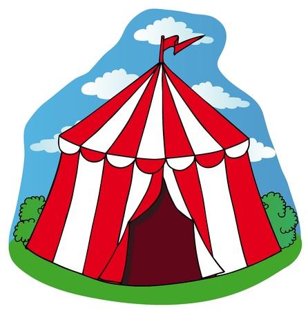 Little circus tent - vector illustration.