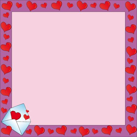Frame with valentines letter Stock Vector - 17205758
