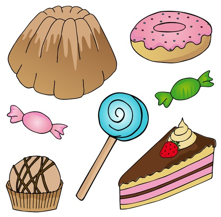 Various cake collection Stock Vector - 17205770