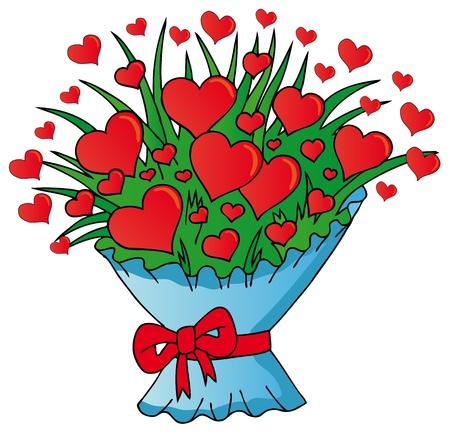 Valentines hearts bouquet