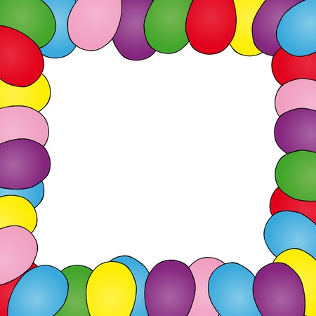 Frame with ballons - vector illustration.