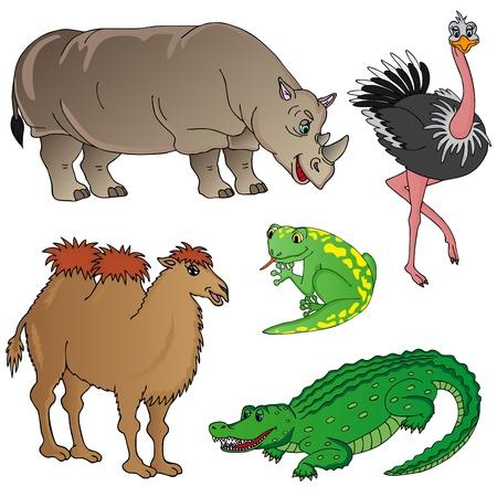 Wild animals collection 02 - vector illustration.