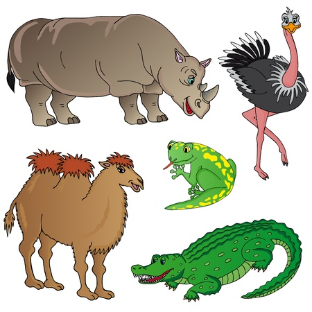 Wild animals collection 02 - vector illustration.