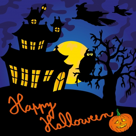 spooky house: Blue spooky house