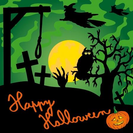 Green gallows theme - vector illustration.