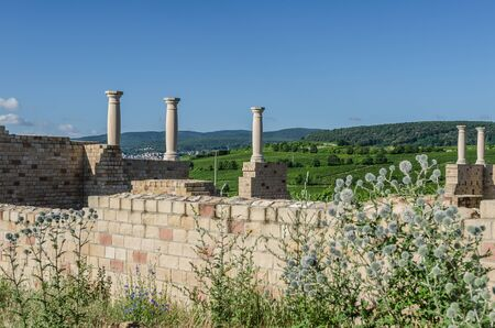 Villa Rustica Weilberg, Ancient Roman winery near Bad Duerkheim in Rhineland-Palatinate, Germany