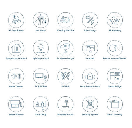 Smart home icons Vectores