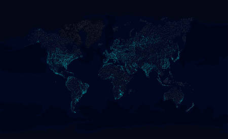 World Map at Night