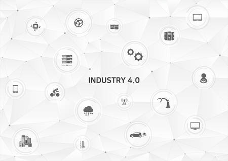 Internet of things (IoT) and cloud network concept for connected smart devices.