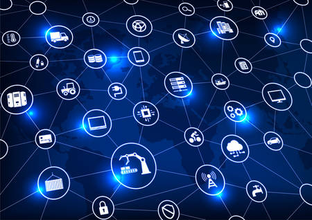 Industrie 4.0, Internet of Things (IoT) und Vernetzung, Netzwerkverbindungen