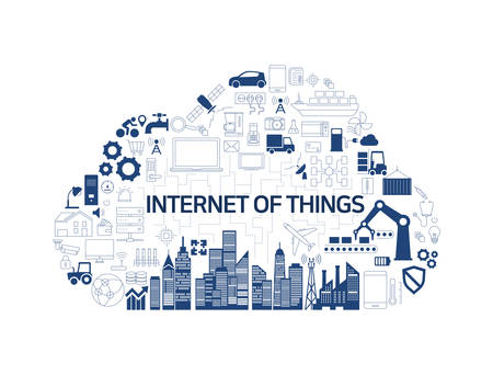 Internet of things (IoT) and cloud network concept, Internet of Things