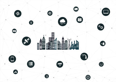 IOT city icon