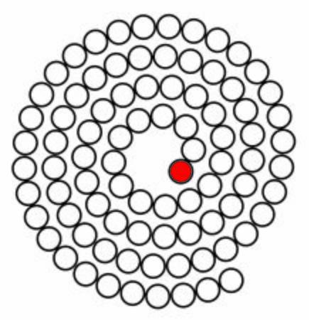 Round spiral puzzle