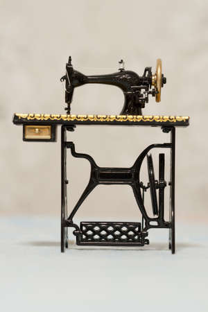 sewing machine: An old classic sewing machine Stock Photo