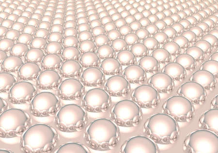 A background of pink reflective spheres photo