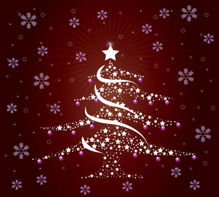 Un �rbol de Navidad de buen estilo Foto de archivo - 12042898