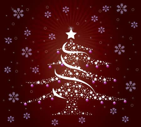 Un árbol de Navidad de buen estilo Foto de archivo - 12042898