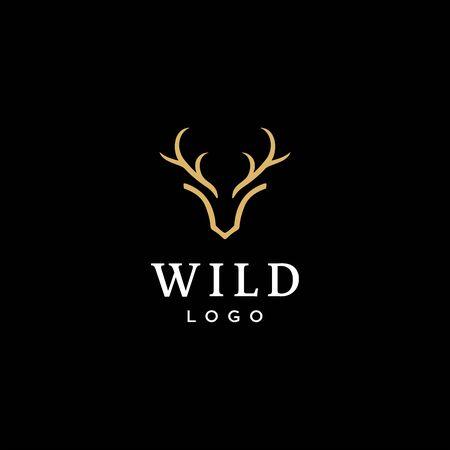 deer antler concept logo design 向量圖像