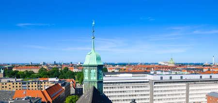 Aerial view of Copenhagen, Denmark Stock Photo