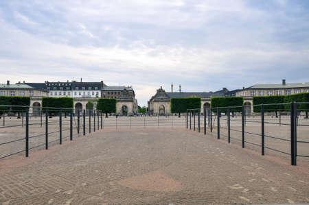 Christianborg palace front view in Copenhagen, Denmark