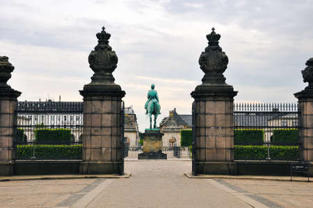 Christianborg palace front view in Copenhagen, Denmark Stock Photo - 86573214