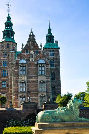 Rosenborg Castle in Copenhagen, Denmark. Stock Photo