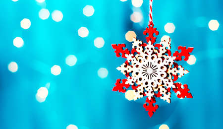 Christmas decoration star on the tree