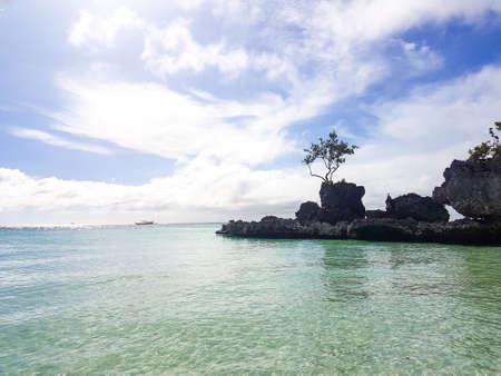 Willys rock on the beach on Boracay island,Philippines Фото со стока - 97871396