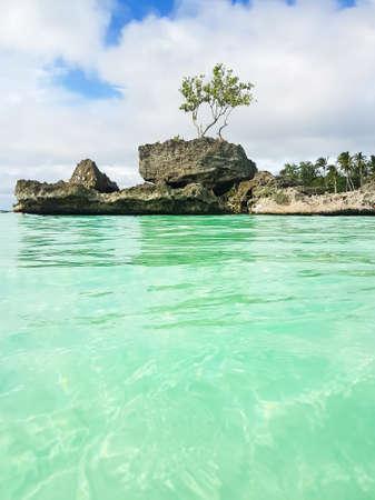 Willys rock on the beach on Boracay island,Philippines