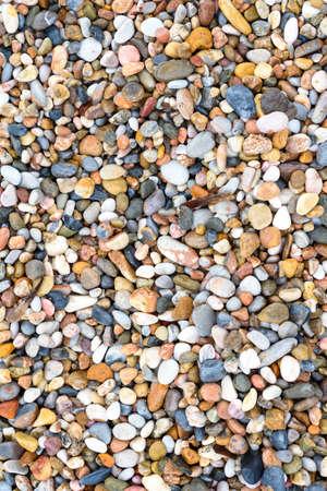 Sea stones texture background, top view Stock Photo