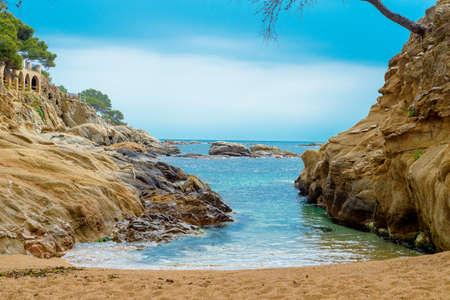 granite stones background Stock Photo