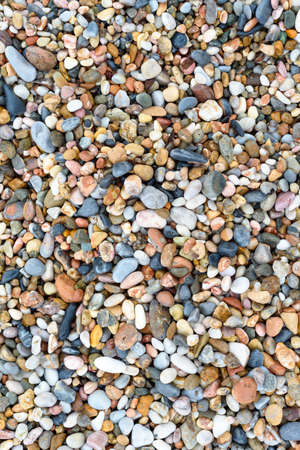 Sea stones texture background, sea pebble background top view