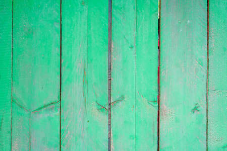 green wooden fence background, green peeled paint